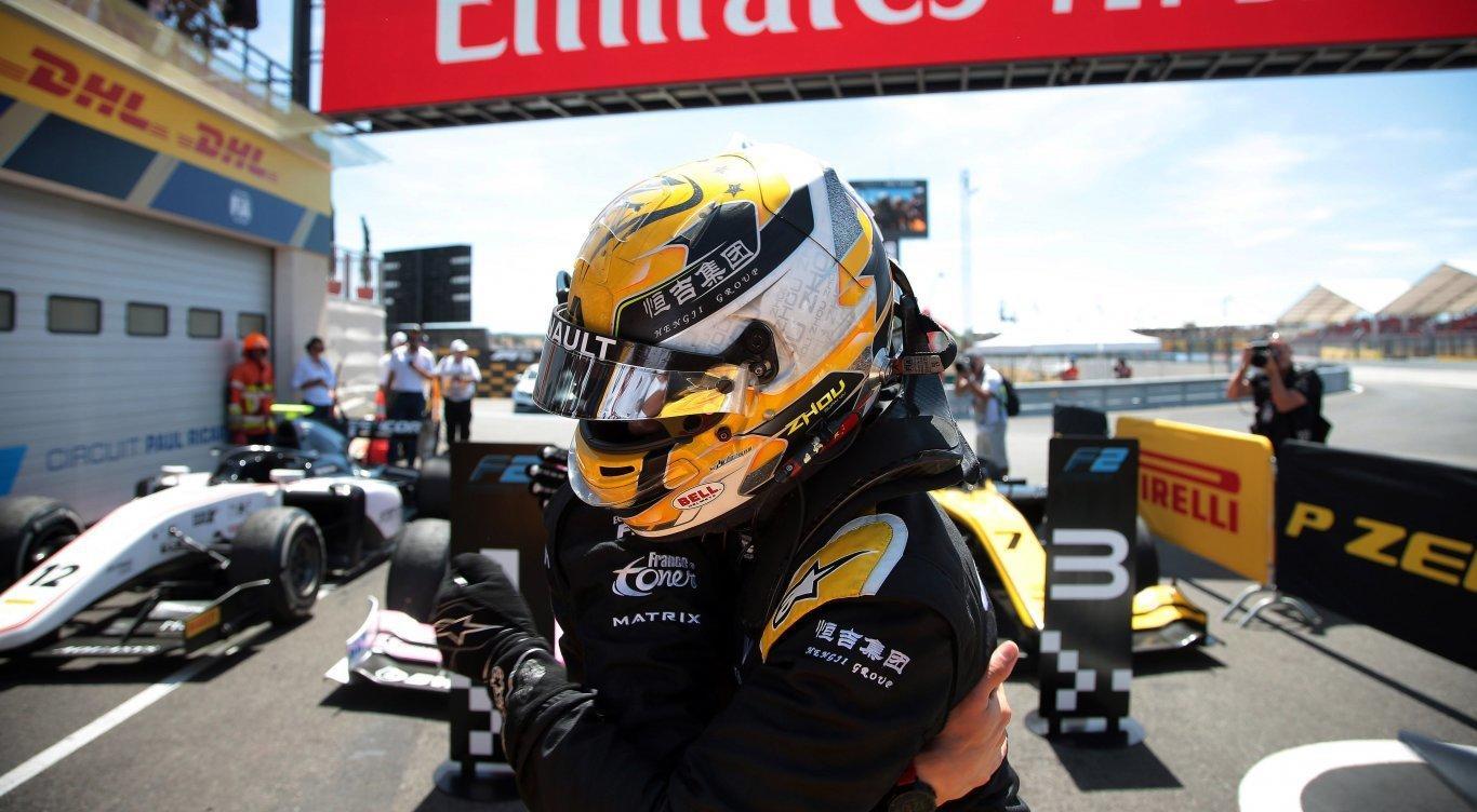 guanyu-zhou-podio-f2-francia-2019