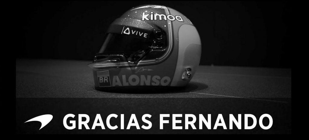 En Competición: Gracias Fernando. Así es la emotiva despedida de McLaren a Fernando Alonso [Vídeo]