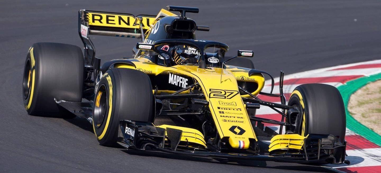 Renault saca a pasear el RS18 con motivo del filming day en el Circuit Barcelona Catalunya