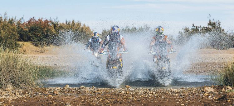 KTM Dakar 2017 test