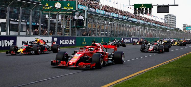 Salida GP Australia Vettel 2018