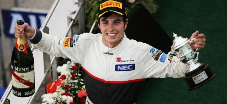 Sergio Checo Pérez Podio Sauber Gran Premio Malasia 2012