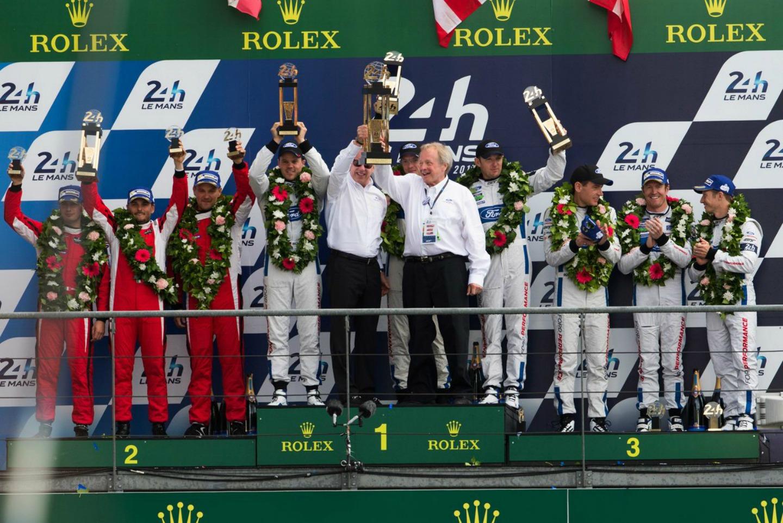 Ford family Le Mans 2016 podium