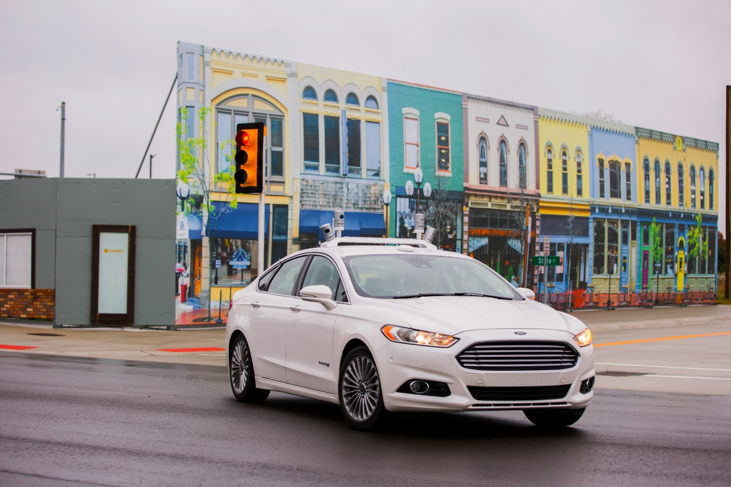 Fusion Hybrid Research Vehicle at Mcity