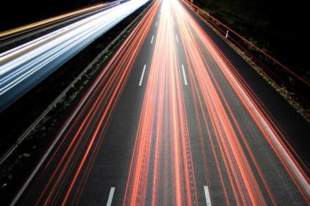 Autobahn de noche