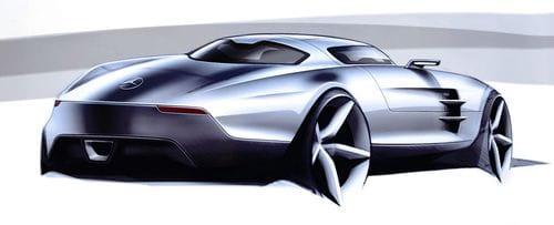 Mercedes SLS AMG, bocetos oficiales e imágenes del habitáculo