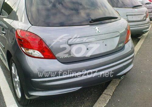 Peugeot 207, más fotos espía del lavado de cara