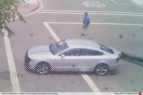 El Audi A5 Sportback al completo aunque con la boca tapada