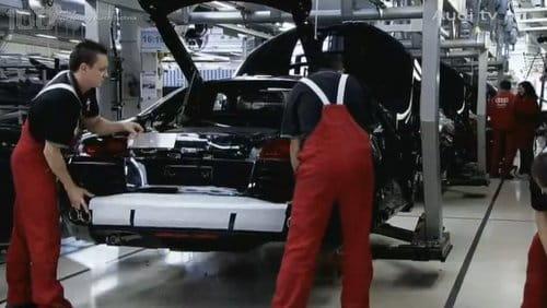 Audi R8 en la fábrica