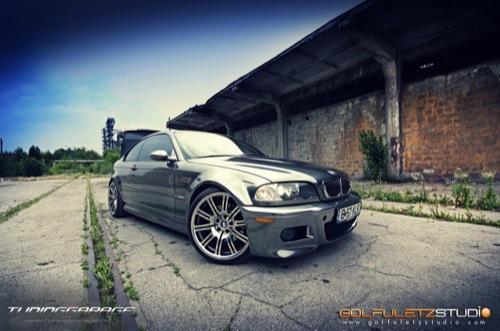 Cromado cegador para un BMW M3 E46