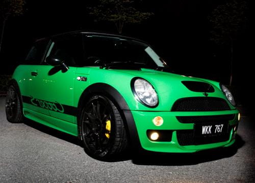 Mini Cooper S estilo Porsche 911 GT3 RS