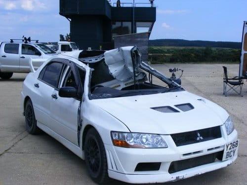 Mitsubishi Lancer EVO VII destrozado en Top Gear