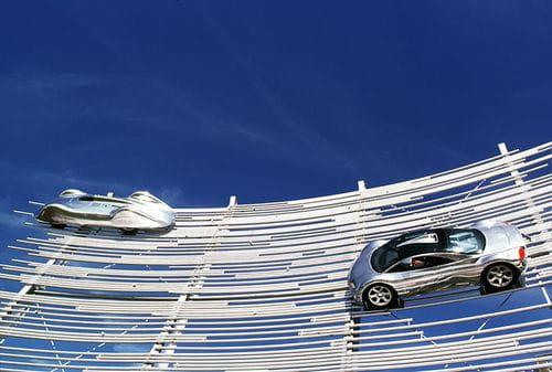 Audi revela una espectacular escultura en Goodwood
