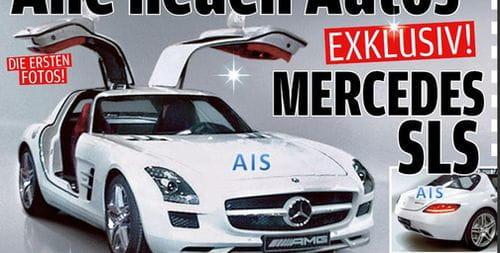 Primera imagen filtrada del Mercedes SLS AMG