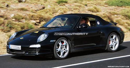 Espiado un enigmático prototipo de Porsche 911