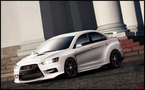 Mitsubishi Evolution X Streamside
