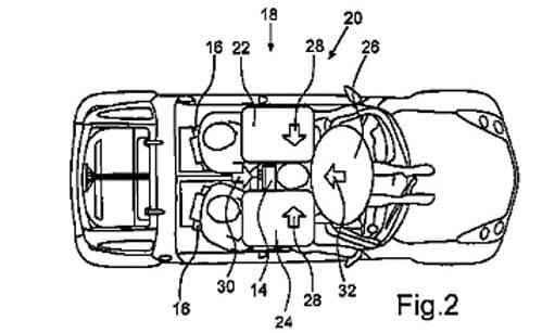 Patente de un Smart de tres plazas