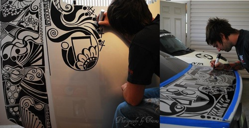 Arte en el tatuaje de un BMW E46 330ci