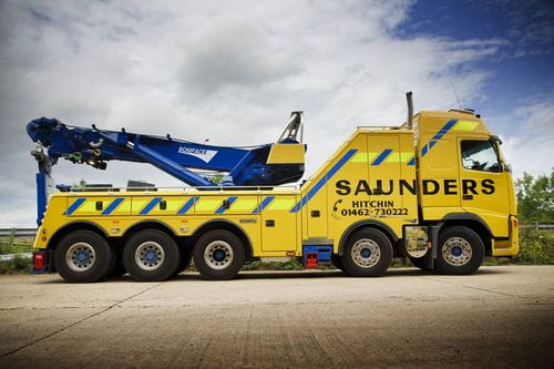 Saunders Recovery Volvo FH-520 Globetrotter, rescate pesado