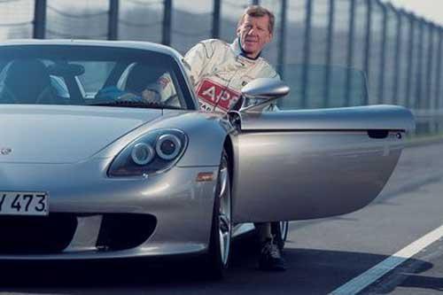 Walter Röhrl, representante de Porsche