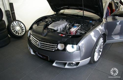 Benero, sobre un Audi S5