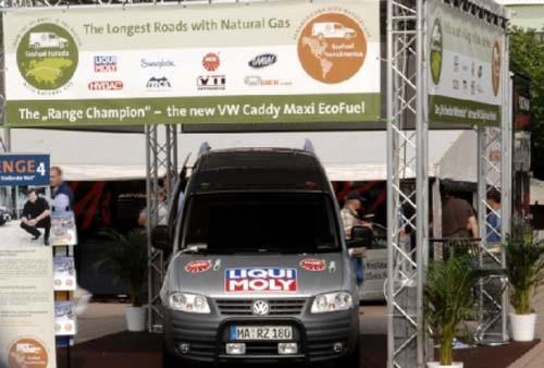 Eco Fuel Tour con VW Caddy de gas natural