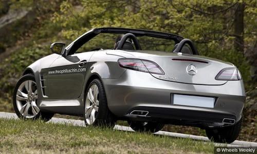 Mercedes SLK convertido en un mini SLS AMG, recreación
