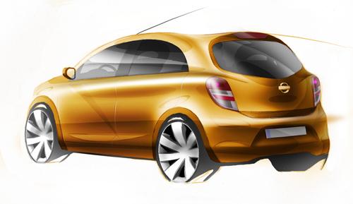 Nissan, boceto de coche global compacto