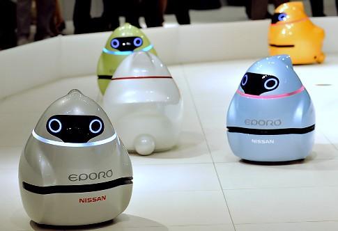 Eporo, un robot de Nissan que se relaciona los demás tal cual un pez