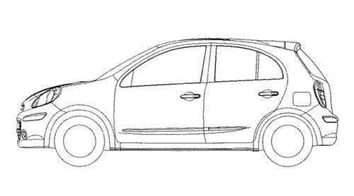 Bocetos del Nissan Micra 2010