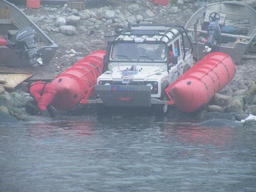 Land Rover en el Estrecho de Bering