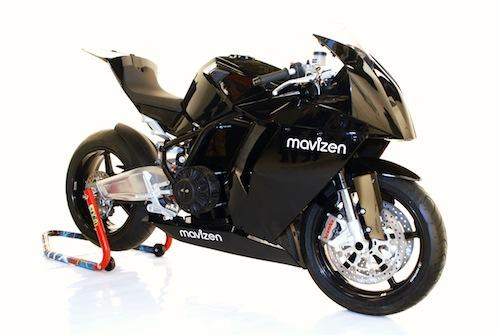 Mavizen TTX02, una moto deportiva eléctrica manejada con Linux
