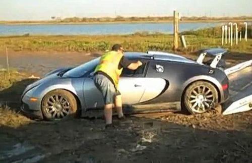 Cómo terminar en un lago con un Bugatti Veyron