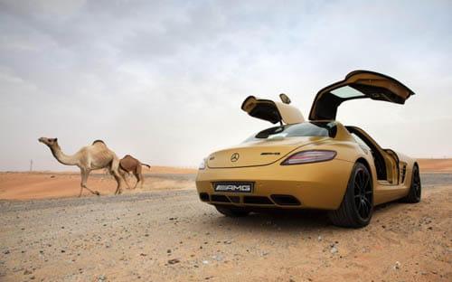 Mercedes SLS Desert Gold