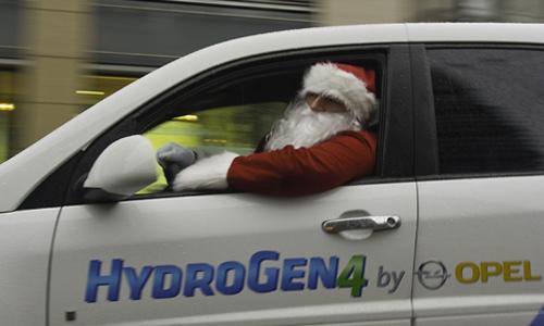 Santa Claus mal ejemplo como conductor