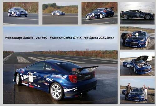 Toyota Celica GT4 de Fensport, a 325 Km/h
