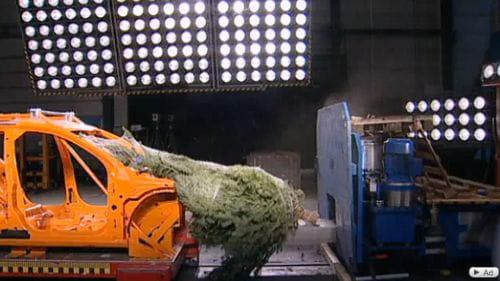 ADAC nos enseña a transportar correctamente un árbol de navidad
