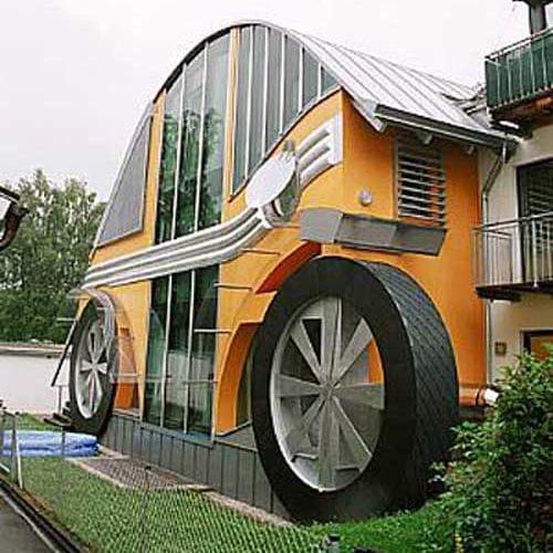 Casa inspirada en el VW Escarabajo