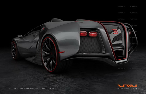 Bugatti Renaissance, un exagerado Veyron digital