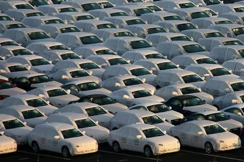Campa de vehículos en stock