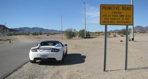 Viaje del Tesla Roadster Sport