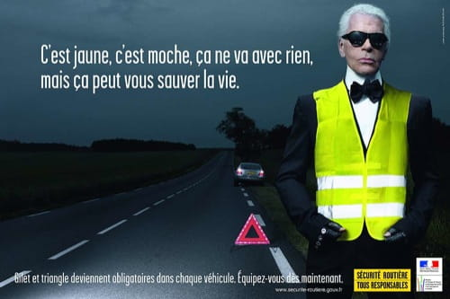 Karl Lagerfeld y la Seguridad Vial