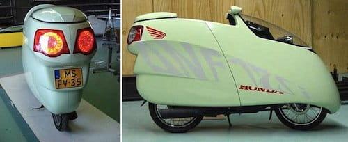 Honda ANF125i Innova con carrocería aerodinámica de Allert Jacobs