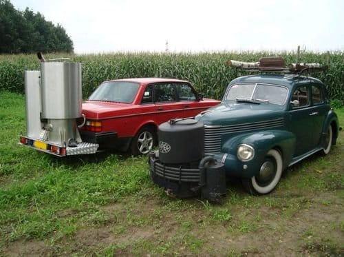 Los coches que se movían usando madera de árboles