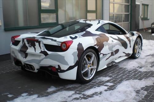 Ferrari 458 Italia de camuflaje
