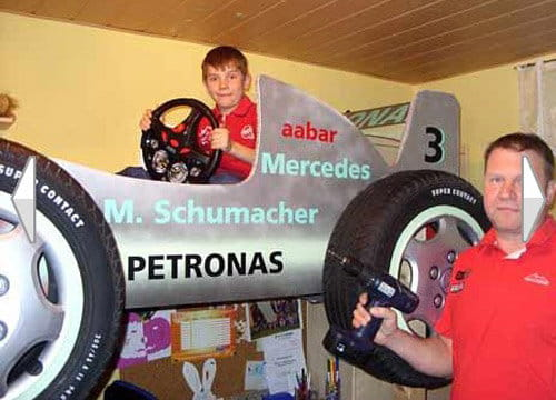 Cama en honor a Schumacher