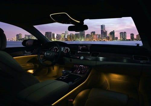 Audi A8 Iluminación interior
