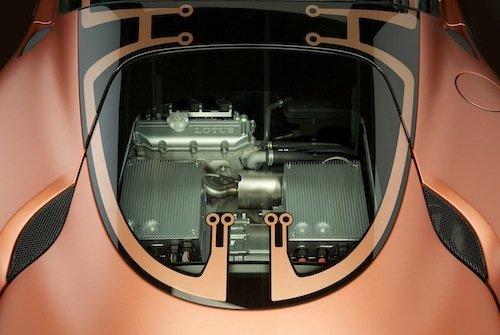 Lotus Evora 414E Hybrid Concept, bahía del motor