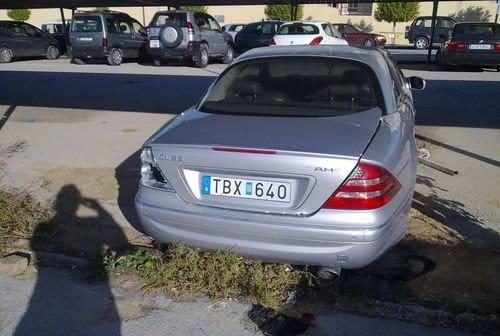 El triste destino de un Mercedes CL 55 AMG