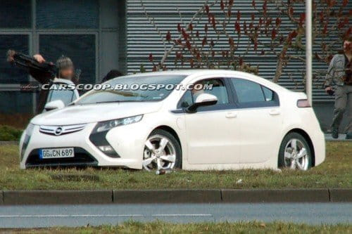 El Opel Ampera de producción, completamente desnudo